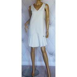 Sukienka szara z falbanką