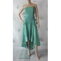 Ekskluzywna suknia wieczorowa tafta hiszpanka
