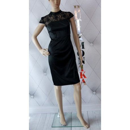 Przepiekna sukienka ołówkowa koronka plecy
