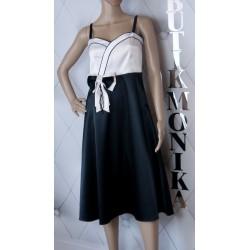 Długa sukienka błekitno biała cieniowana C.DIONA