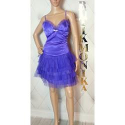 Fioletowa sukienka tiul baletnica 38/40 cyrkonie